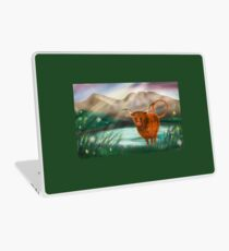 Hairy Coo at lochcarron ( non wide screen version )  Laptop Skin