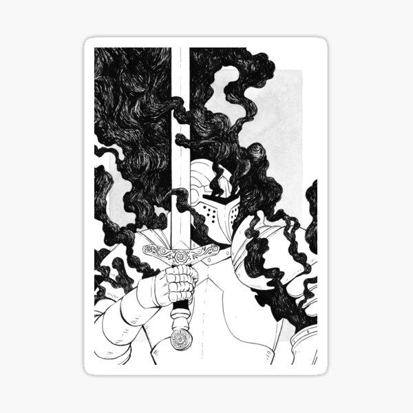 Dunkler Ritter Sticker