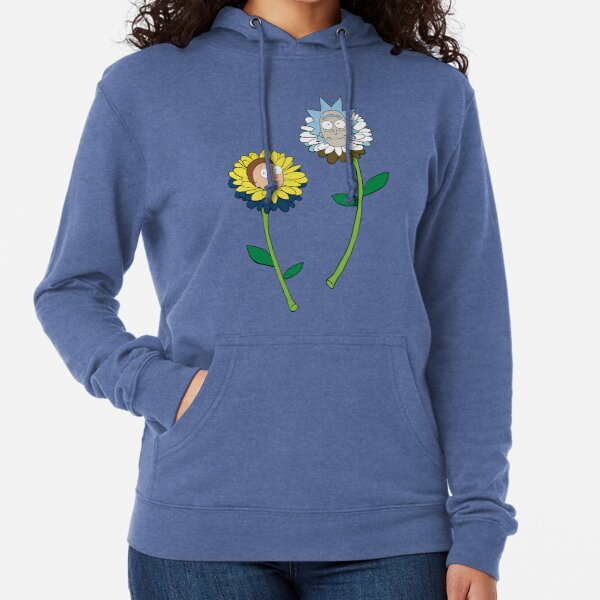 Rick and Morty as flowers Lightweight Hoodie