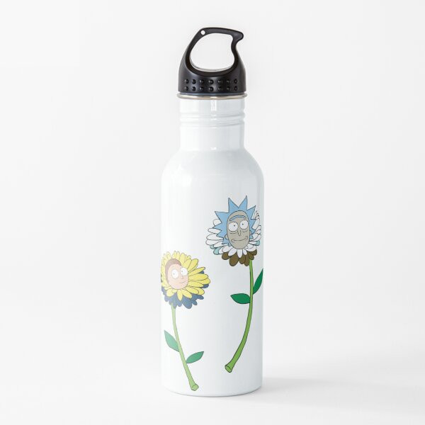 Rick and Morty as flowers Water Bottle