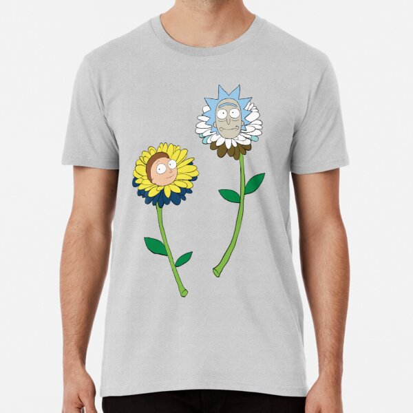 Rick and Morty as flowers Premium T-Shirt