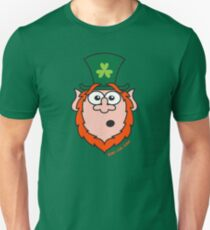 St Paddy's Day Surprised Leprechaun Unisex T-Shirt