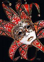 Crimson Carnivale Mask by Karen  Hull