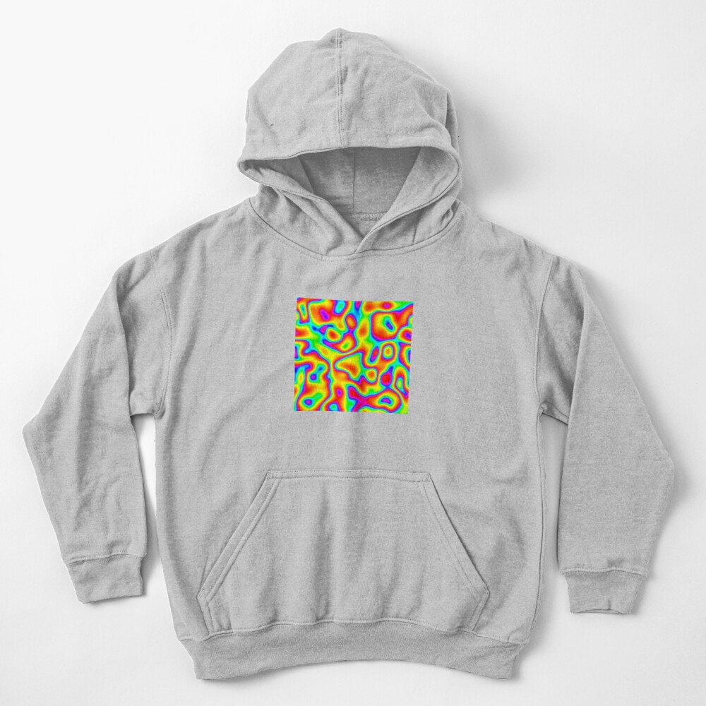 Rainbow Chaos Abstraction Kids Pullover Hoodie