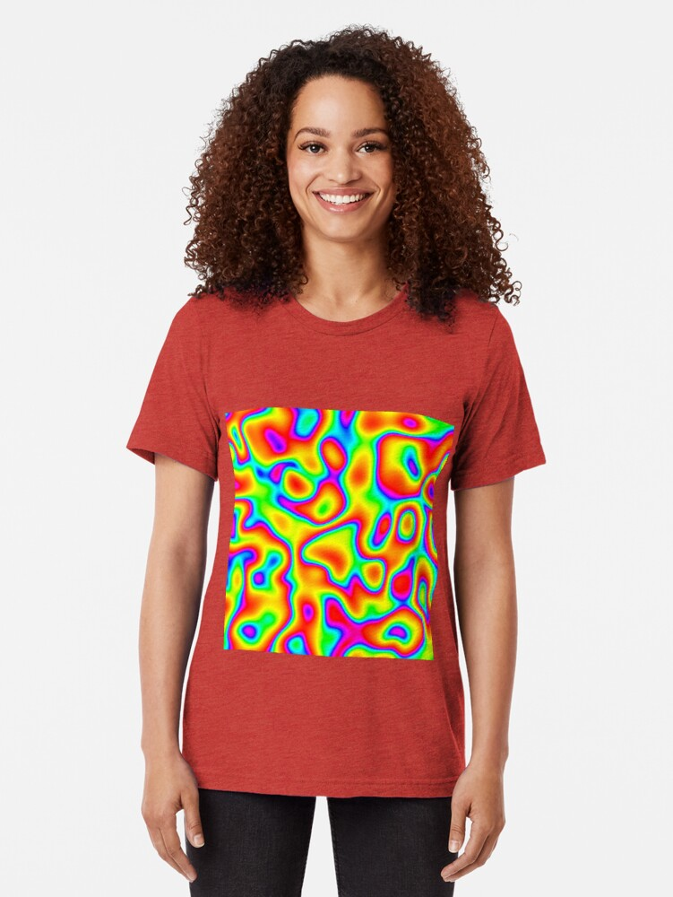 Alternate view of Rainbow Chaos Abstraction Tri-blend T-Shirt
