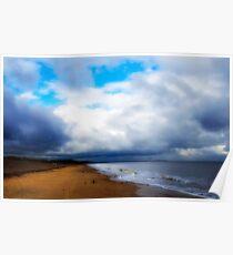 View along Dunwich Beach. Poster