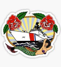 Roses - Coast Guard National Security Cutter Sticker