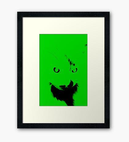RETRO ALIEN. Framed Print