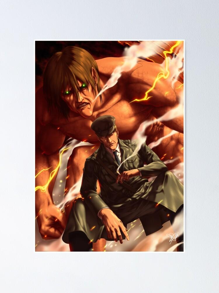eren titan poster Eren Kruger: Der Angriffs-Titan  Poster