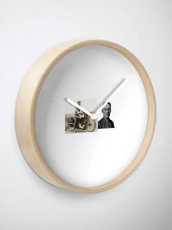 Alternate view of T.E.Lawrence - (Lawrence of Arabia) Clock