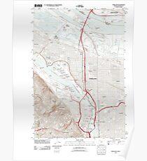USGS Topo Map Oregon Portland 20110901 TM Poster