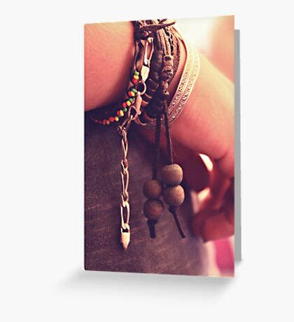 collected memories, treasured lives Greeting Card