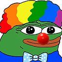 "Pepe the frog clown meme"" Sticker by aMemeStore   Redbubble"