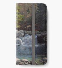 """Bartlett's Falls"" Bristol Vermont painting by Reed Prescott iPhone Wallet/Case/Skin"