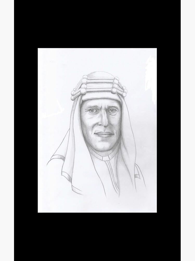 T.E.Lawrence (Lawrence of Arabia) in arab dress by dplrjl