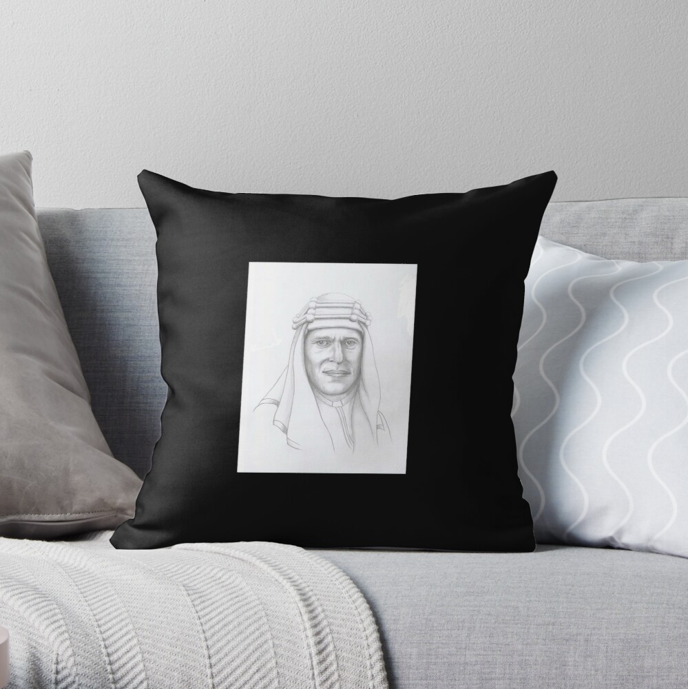 T.E.Lawrence (Lawrence of Arabia) in arab dress Throw Pillow