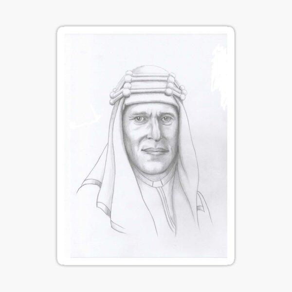 T.E.Lawrence (Lawrence of Arabia) in arab dress Sticker