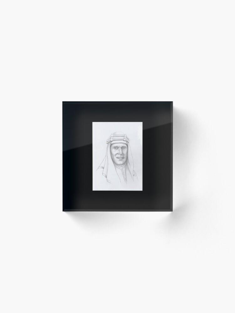 Alternate view of T.E.Lawrence (Lawrence of Arabia) in arab dress Acrylic Block