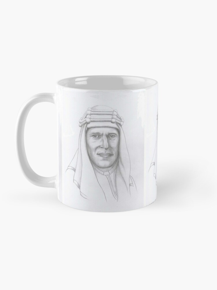 Alternate view of T.E.Lawrence (Lawrence of Arabia) in arab dress Mug