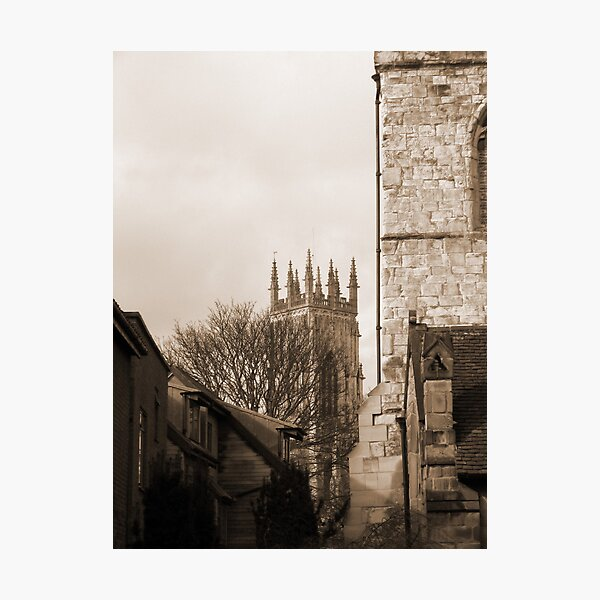 Minster View Sepia Photographic Print