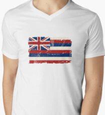 U.S. State Hawaii Flag - Vintage Look Men's V-Neck T-Shirt