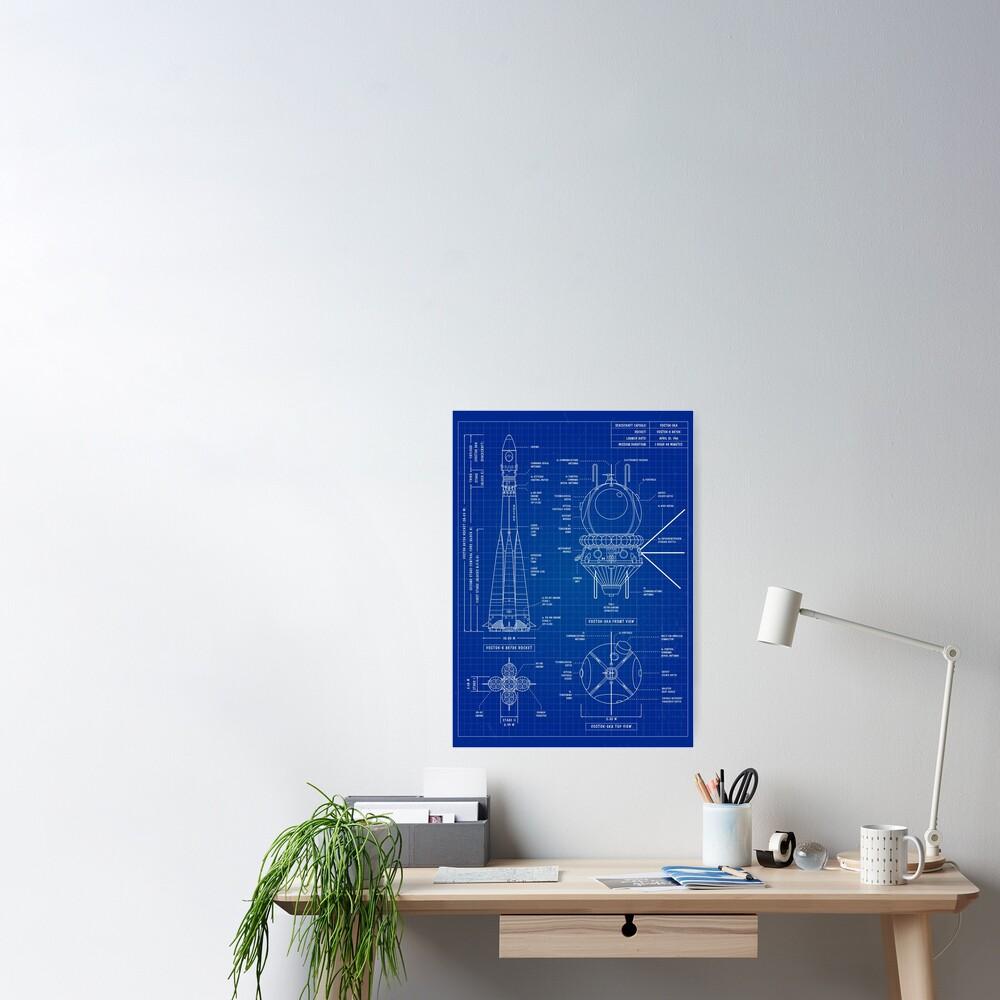 Vostok Blueprint (Blueprint) Vertical Poster