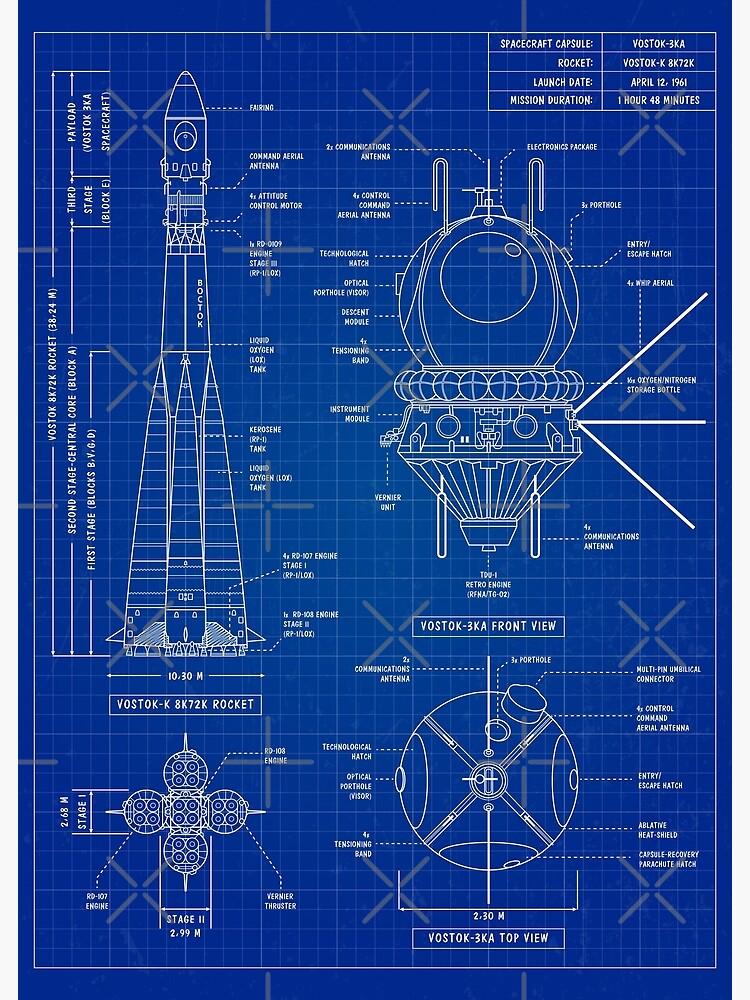 Vostok Blueprint (Blueprint) Vertical by BGALAXY