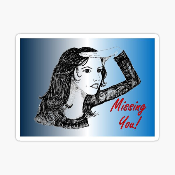 Searching - Missing You Card Sticker