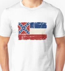 U.S. State Mississippi Flag - Vintage Look Unisex T-Shirt
