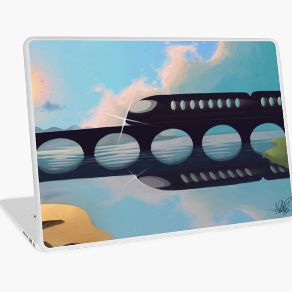 Sunset by the Train Laptop Skin