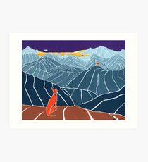 Podenco Dog on a mountain top Art Print