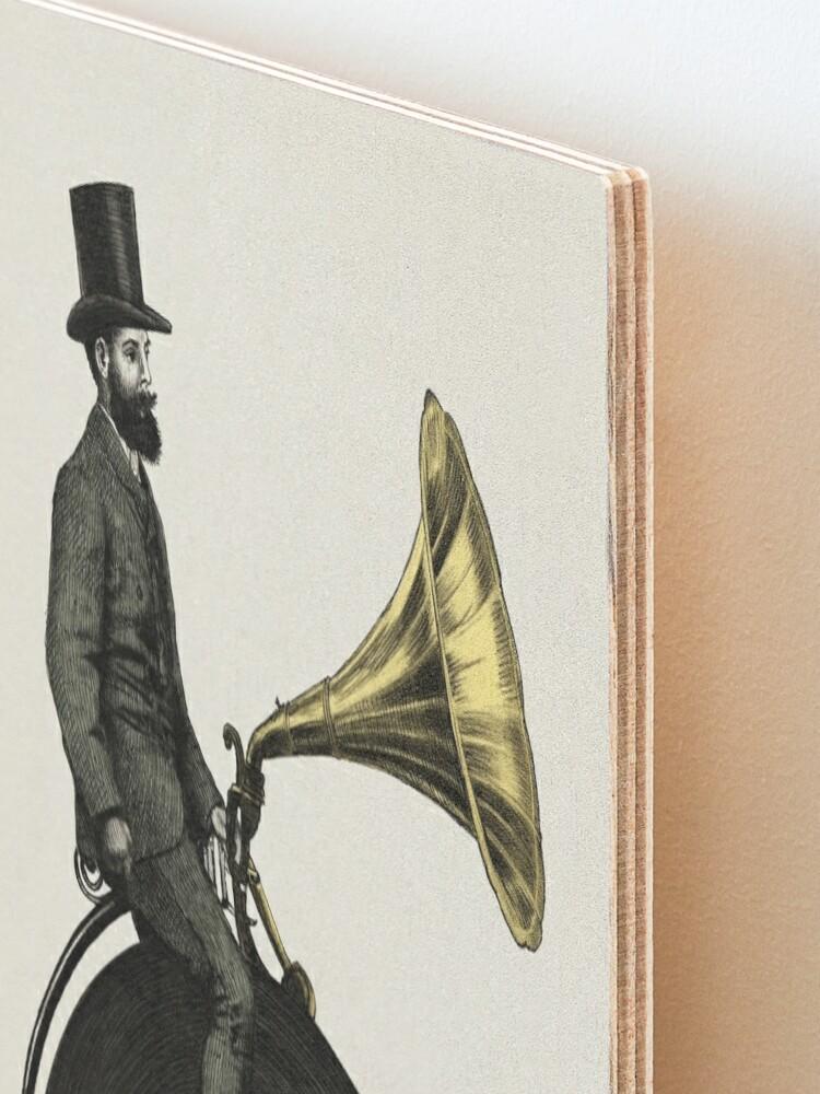 Alternate view of Music Man Mounted Print