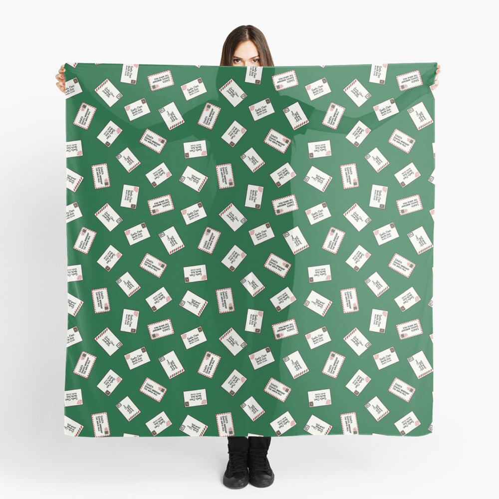 Letters to Santa in Green Scarf