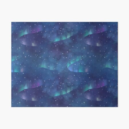 Aurora borealis Art Board Print