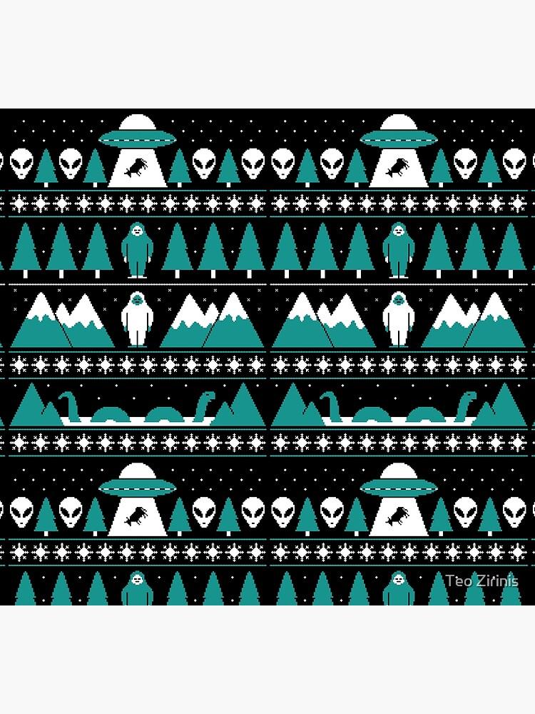 Paranormal Christmas Sweater by theodorezirinis