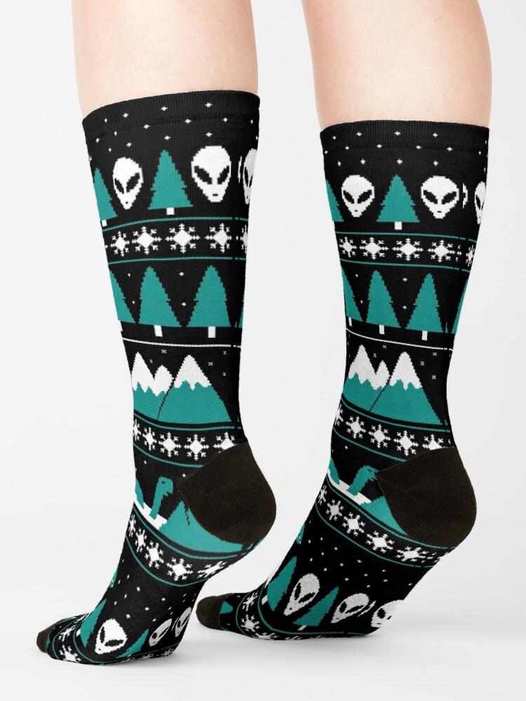 Alternate view of Paranormal Christmas Sweater Socks
