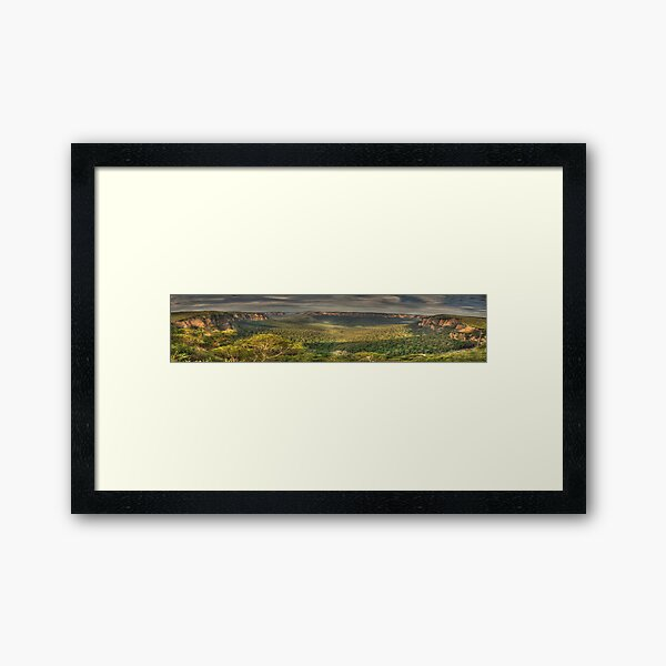 Leap Of Faith - Govetts Leap & Grose Valley (35 Exposure Panorama) - The HDR Experience Framed Art Print