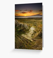 Sunset Steps Greeting Card