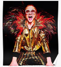 Black Red Sir Elton Singer Legend John Poster