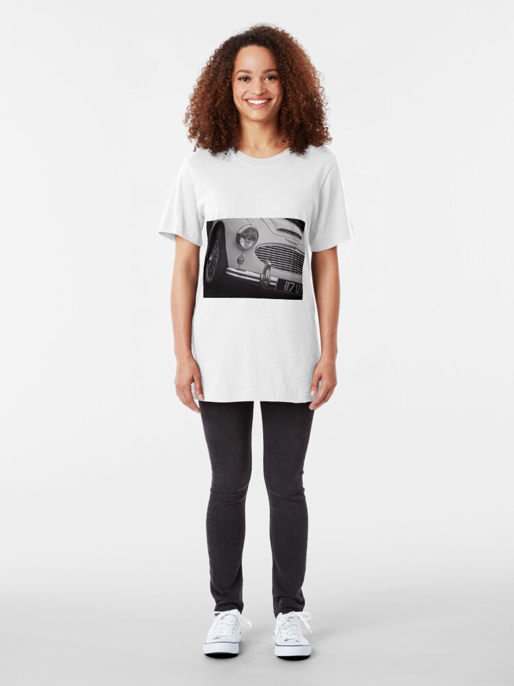 Alternate view of Austin Healey Classic Sports Car Front Slim Fit T-Shirt