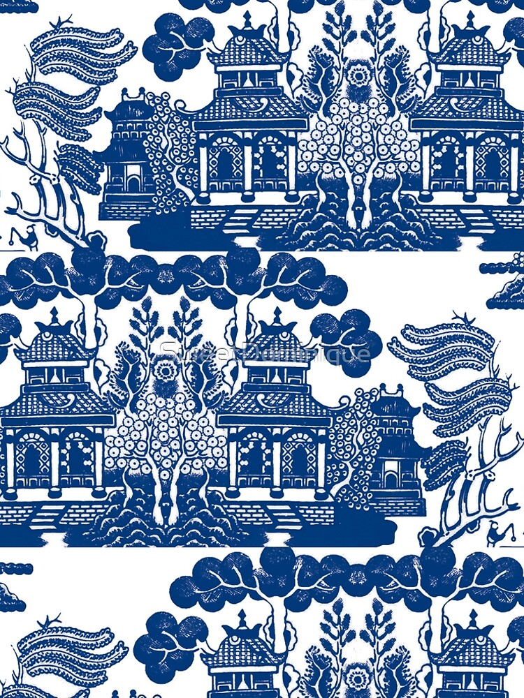 Blue Willow Chinoiserie Blue And White Porcelain Inspiration by SweetDominique