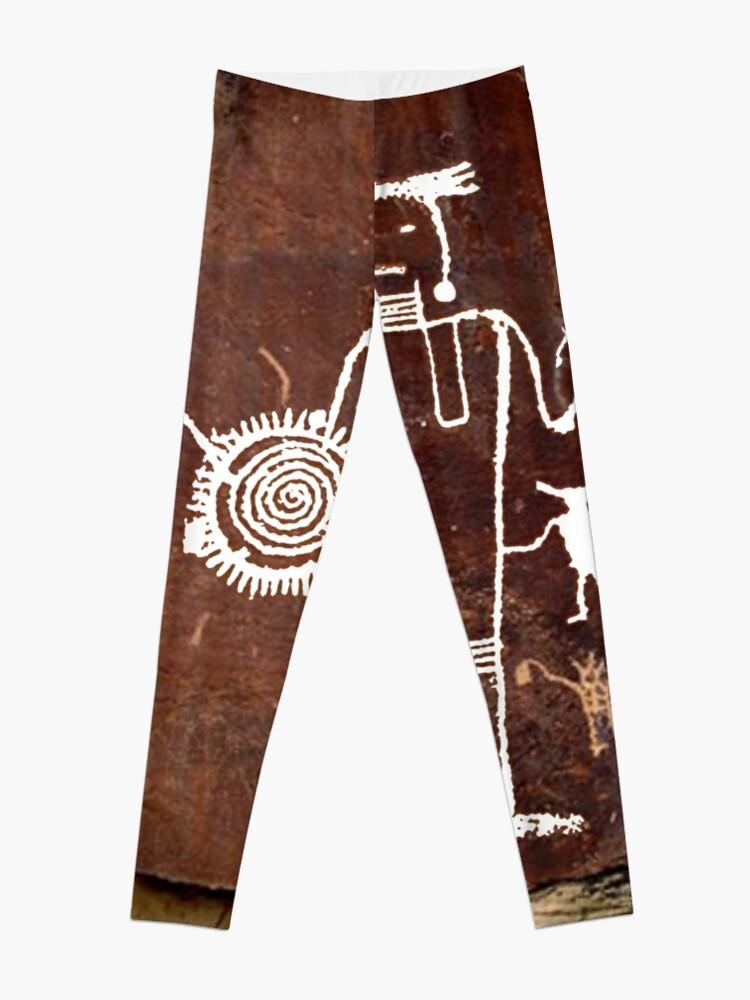 Alternate view of #famousplace #internationallandmark #Vernal #Utah #USA #americanculture #old #ancient #art #rusty #dirty #antique #archaeology #dark #abstract #pattern #rough #tree #architecture #horizontal #Americas Leggings