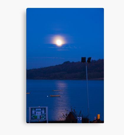 Carsington Waters, Moon Shine  Canvas Print
