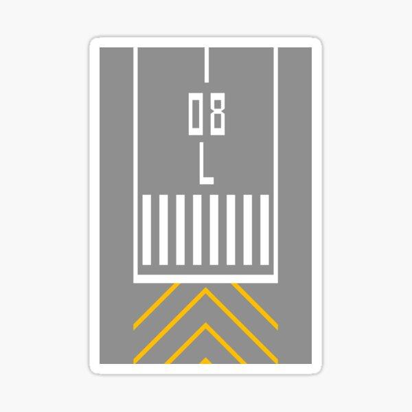 Threshold RWY 08L Sticker