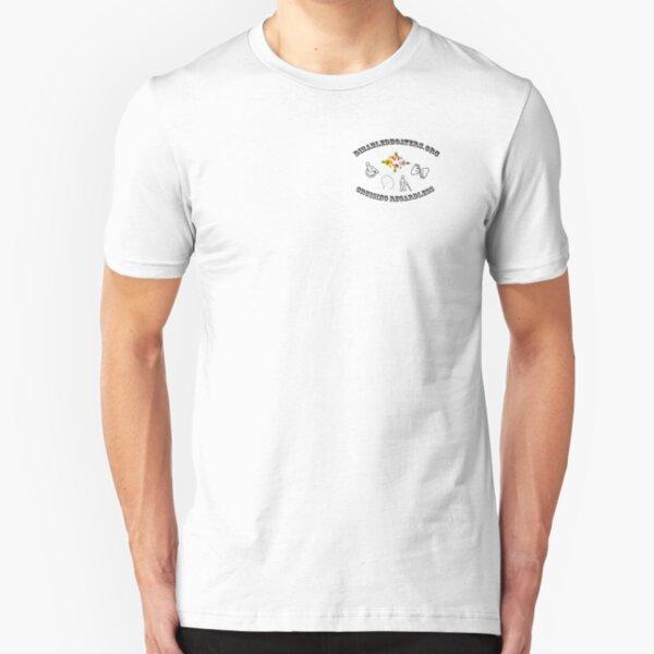 Disabledboaters.Cruising Regardless!  Slim Fit T-Shirt