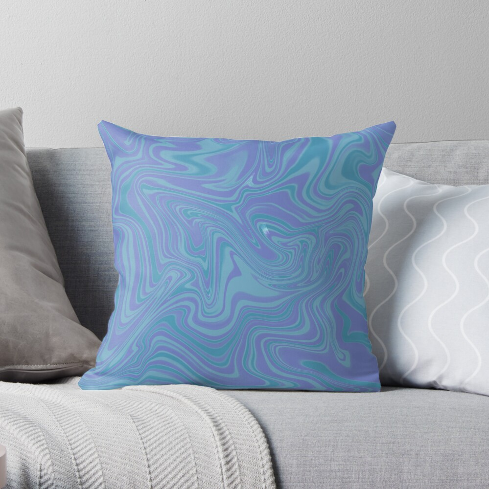 Mauve Abstract Swirl Throw Pillow