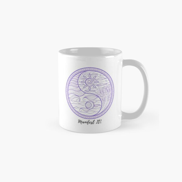 Manifest It! Yin Yang Purple Classic Mug