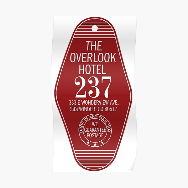 The Overlook Hotel Key Poster