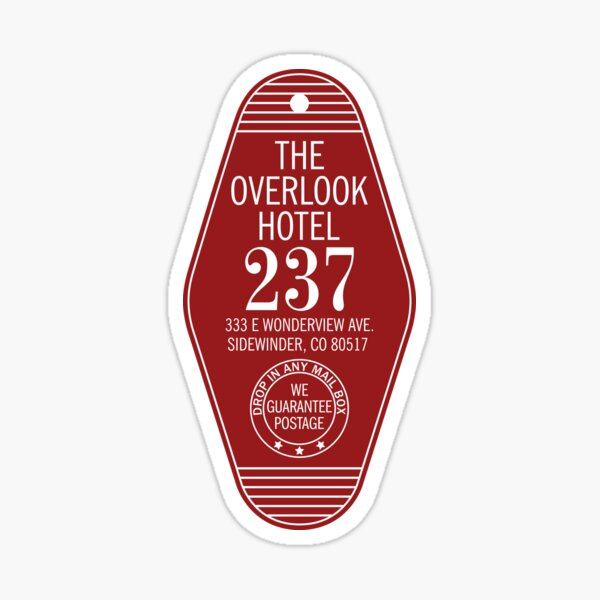 The Overlook Hotel Key Sticker