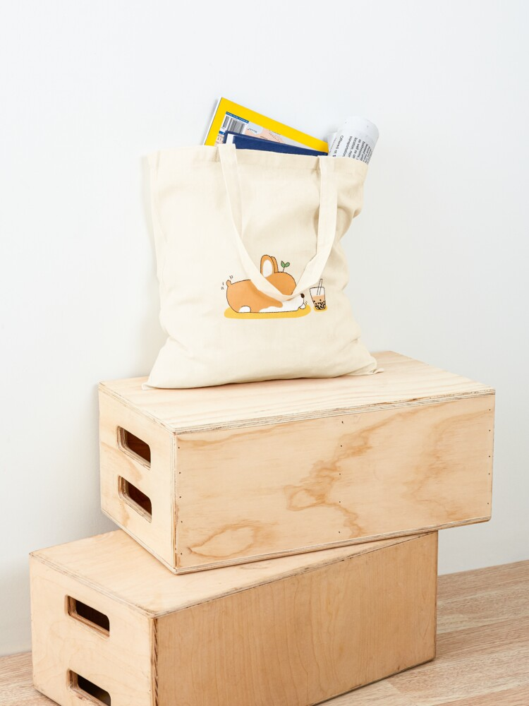 Alternate view of Corgi and Bubble Tea  Tote Bag